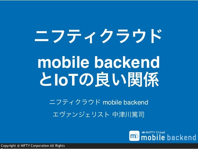Copyright @ NIFTY Corporation All Rights ニフティクラウド