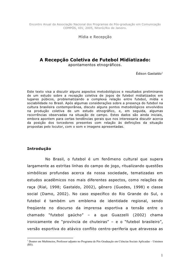 Encontro Anual da Associação Nacional dos Programas de Pós-graduação em Comunicação                           COMPÓS, XIV,...