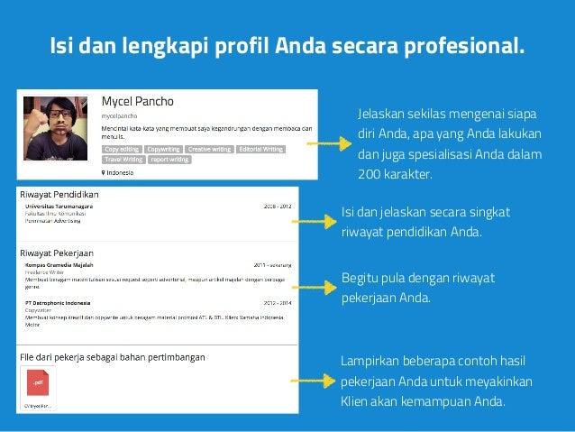 panduan melengkapi profil freelancer