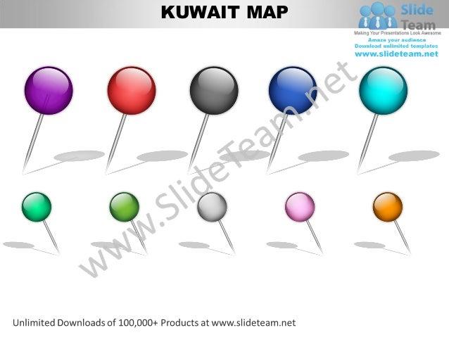 Editable kuwait power point map with capital and flag templates slide edited separately 4 kuwait toneelgroepblik Gallery
