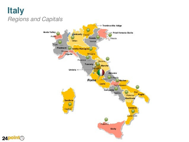 PowerPoint Map of Italy