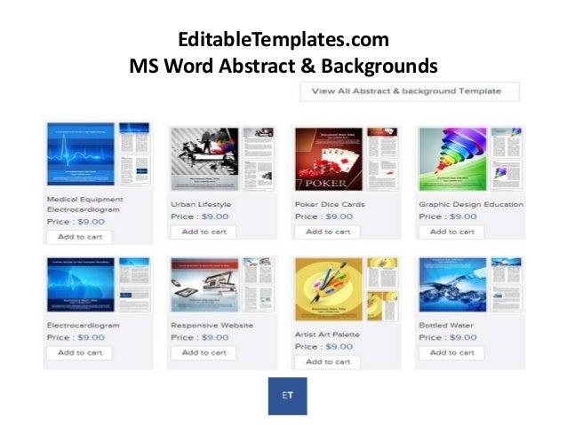 Editabletemplates Com Word Document Templates
