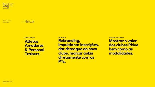—Phive.pt PÚBLICO ALVO Atletas Amadores & Personal Trainers OBJETIVOS Rebranding, impulsionar inscrições, dar destaque ao ...
