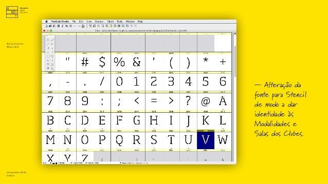 TypeDesign —Phive.pt — Alteração da fonte para Stencil de modo a dar identidade às Modalidades e Salas dos Clubes. 3 Setem...