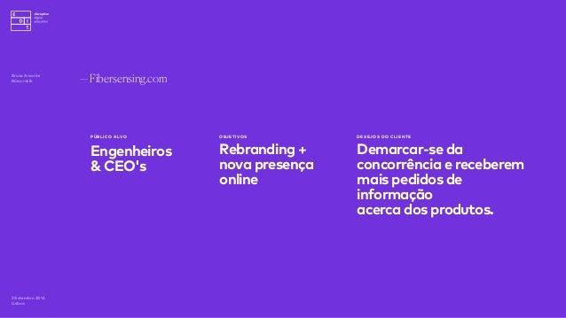 —Fibersensing.com 3 Setembro 2016 Lisboa PÚBLICO ALVO Engenheiros & CEO's OBJETIVOS Rebranding + nova presença online DESE...