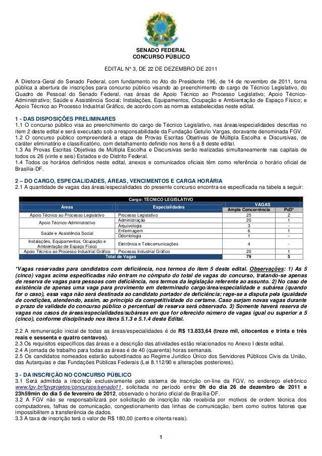 SENADO FEDERAL                                                         CONCURSO PÚBLICO                                   ...