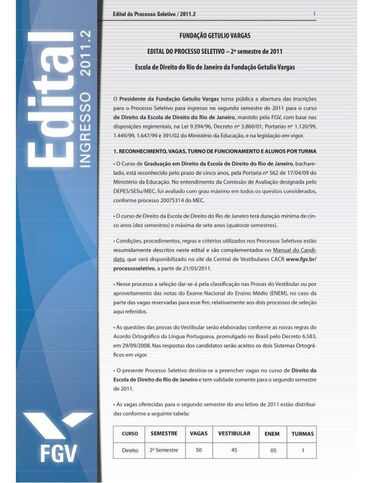Edital 2011 2 direito rio