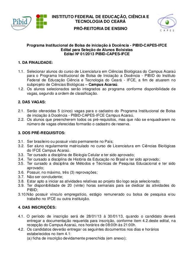 INSTITUTO FEDERAL DE EDUCAÇÃO, CIÊNCIA E                             TECNOLOGIA DO CEARÁ                               PRÓ...