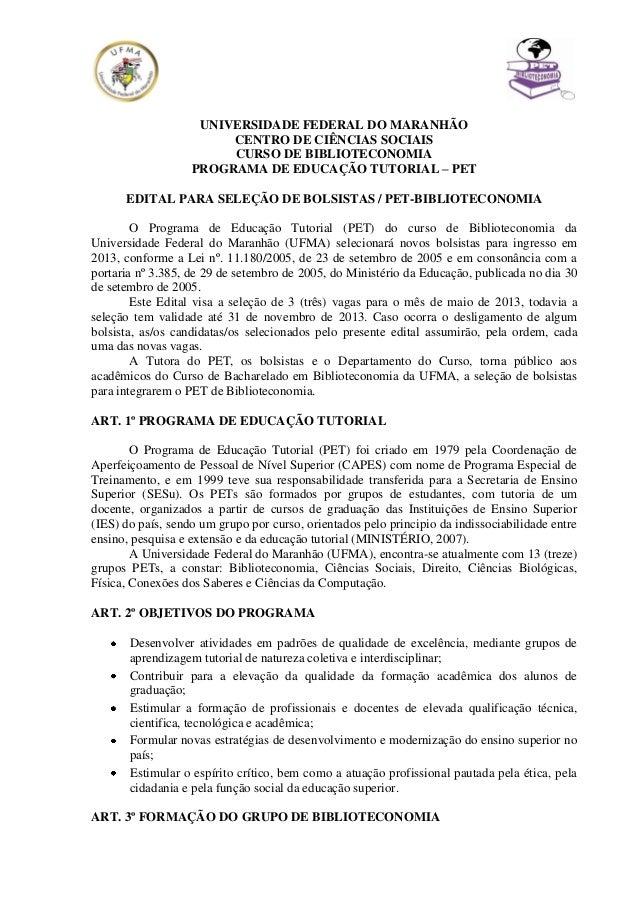 UNIVERSIDADE FEDERAL DO MARANHÃO                        CENTRO DE CIÊNCIAS SOCIAIS                        CURSO DE BIBLIOT...