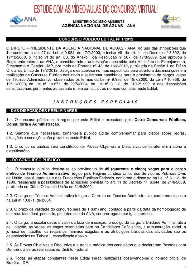ESTUDE COM AS VÍDEO-AULAS DO CONCURSO VIRTUAL!                                      MINISTÉRIO DO MEIO AMBIENTE           ...