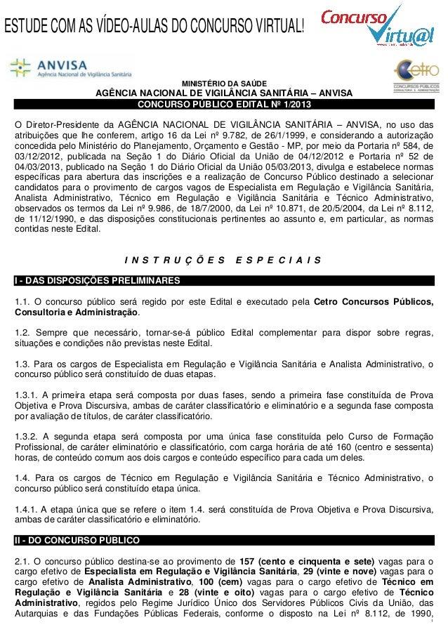 ESTUDE COM AS VÍDEO-AULAS DO CONCURSO VIRTUAL!                                          MINISTÉRIO DA SAÚDE               ...