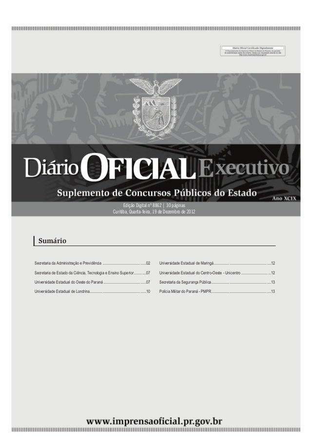 4ª feira | 19/Dez/2012 - Edição nº 8862                     1                                                             ...