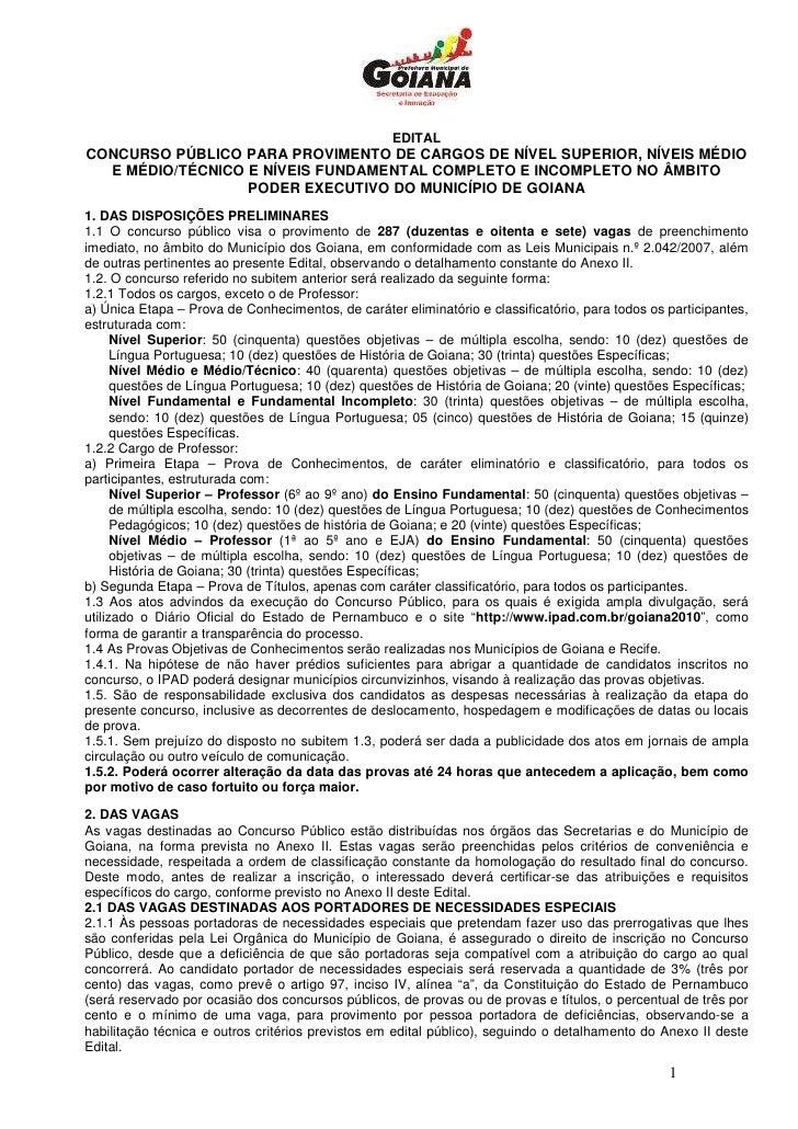 EDITAL CONCURSO PÚBLICO PARA PROVIMENTO DE CARGOS DE NÍVEL SUPERIOR, NÍVEIS MÉDIO   E MÉDIO/TÉCNICO E NÍVEIS FUNDAMENTAL C...