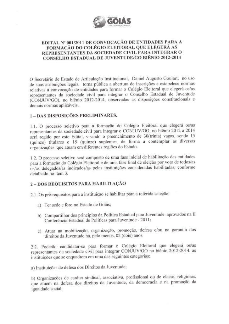 Edital CONJUV 2012 - SEARTI