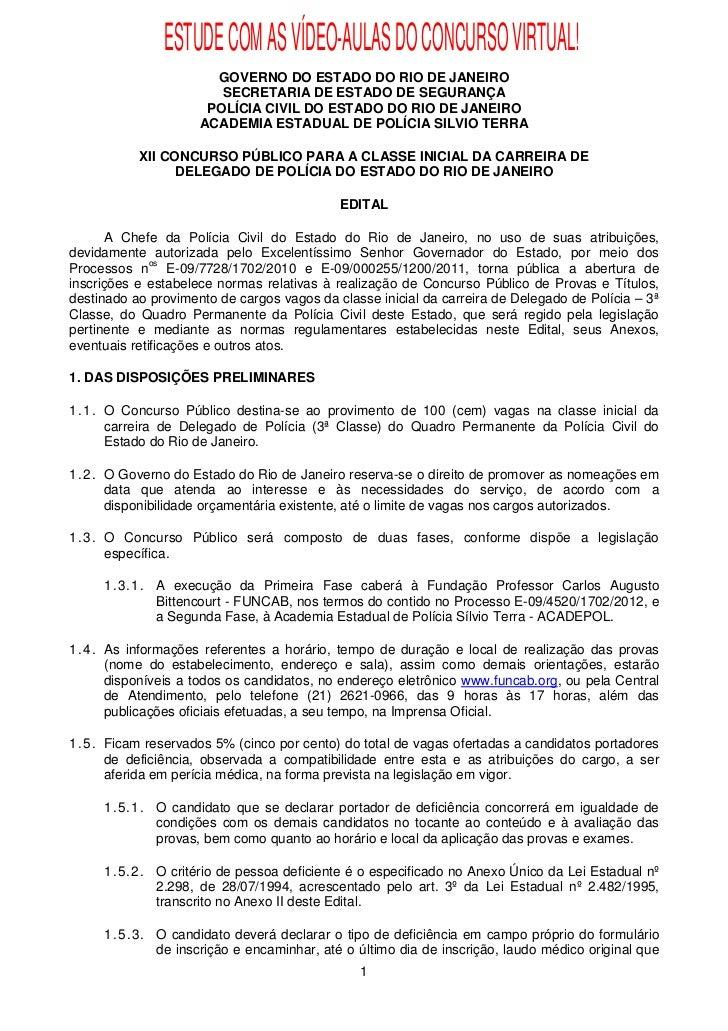ESTUDE COM AS VÍDEO-AULAS DO CONCURSO VIRTUAL!                       GOVERNO DO ESTADO DO RIO DE JANEIRO                  ...