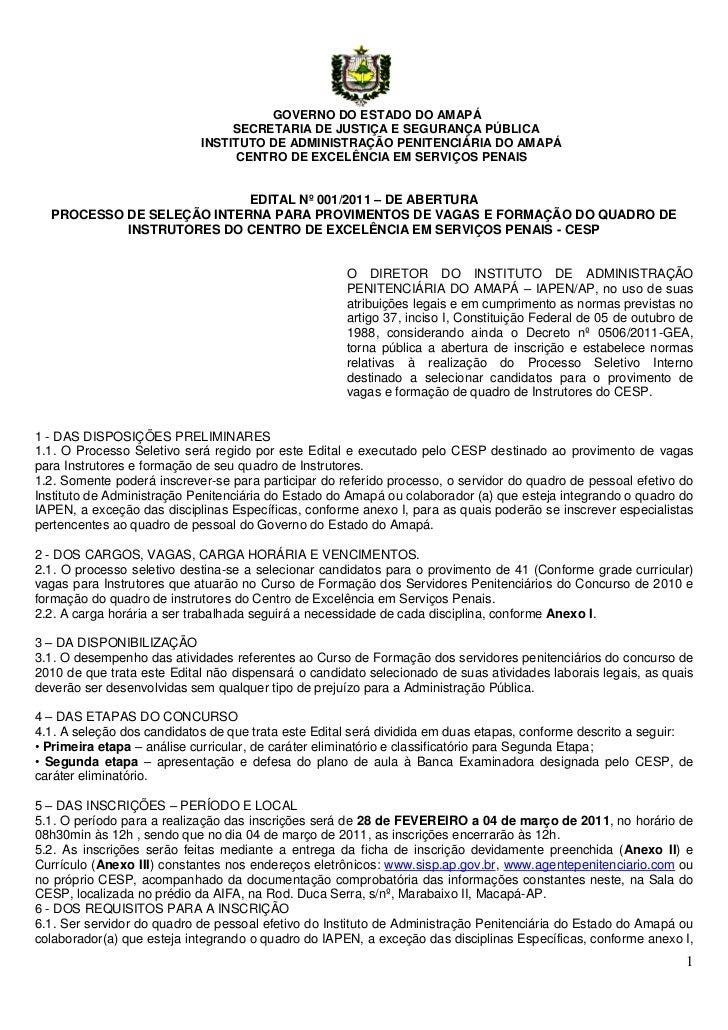 GOVERNO DO ESTADO DO AMAPÁ                                 SECRETARIA DE JUSTIÇA E SEGURANÇA PÚBLICA                      ...