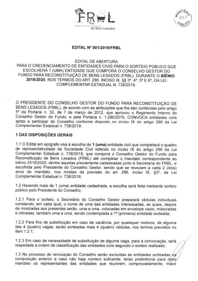 Edital de Credenciamento FRBL