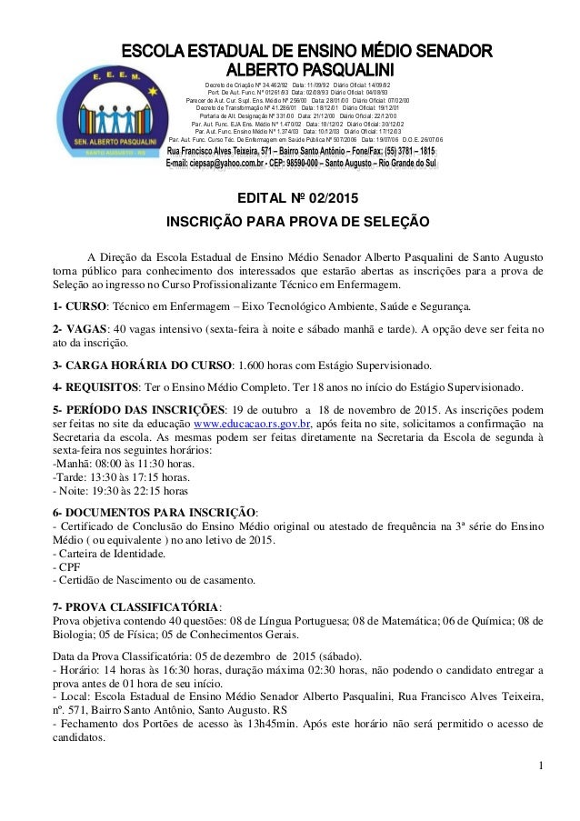 1 Decreto de Criação Nº 34.462/92 Data: 11/09/92 Diário Oficial: 14/09/92 Port. De Aut. Func. Nº 01261/93 Data: 02/08/93 D...