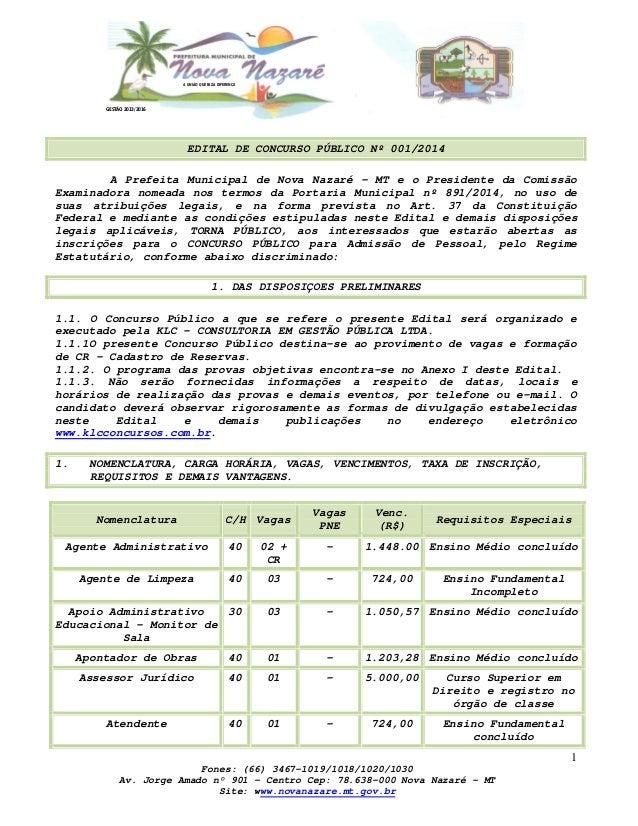 1  A UNIÃO QUE FAZ A DIFERENÇA  Fones: (66) 3467-1019/1018/1020/1030  Av. Jorge Amado n° 901 – Centro Cep: 78.638-000 Nova...