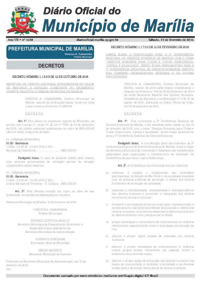 Ano VII • nº 163Ano VII • nº 163Ano VII • nº 163Ano VII • nº 1638888 diariooficial.marilia.sp.gov.brdiariooficial.marilia....