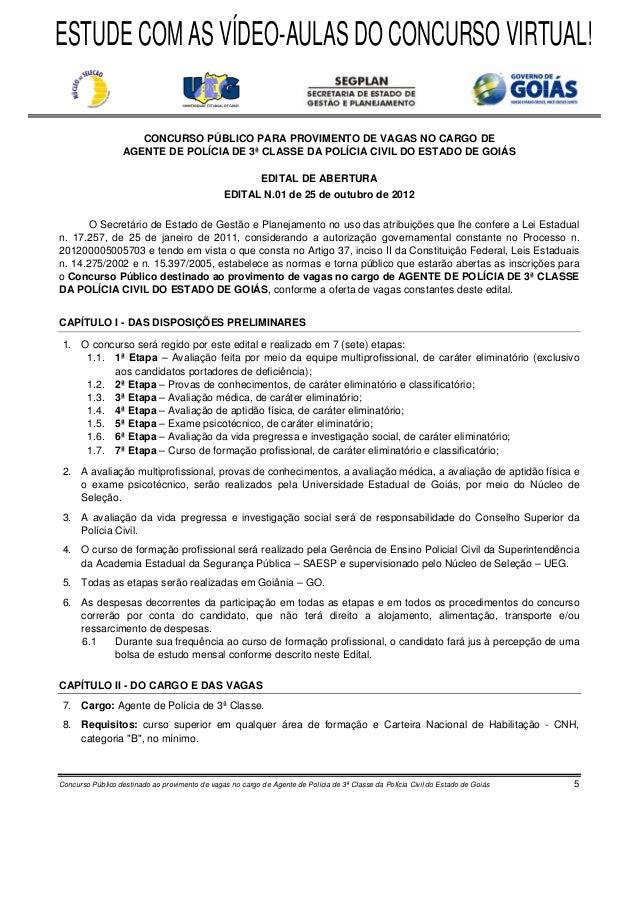 ESTUDE COM AS VÍDEO-AULAS DO CONCURSO VIRTUAL!                     CONCURSO PÚBLICO PARA PROVIMENTO DE VAGAS NO CARGO DE  ...