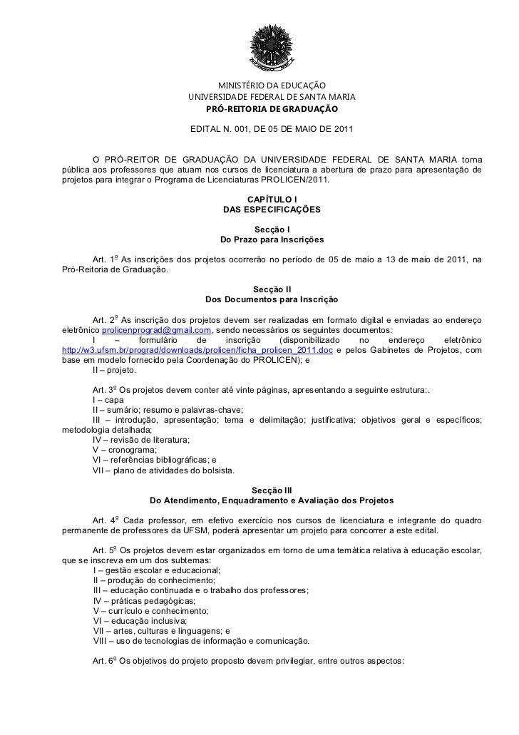 MINISTÉRIO DA EDUCAÇÃO                               UNIVERSIDADE FEDERAL DE SANTA MARIA                                  ...