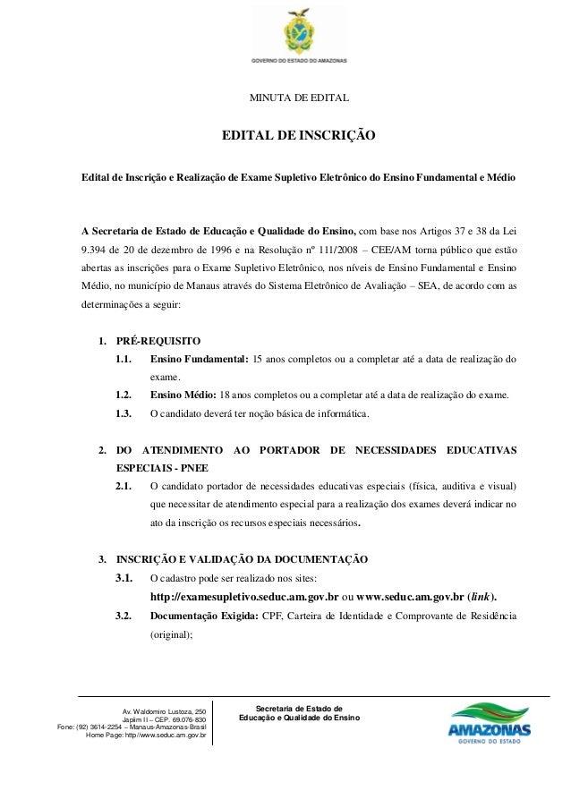 MINUTA DE EDITAL                                                  EDITAL DE INSCRIÇÃO       Edital de Inscrição e Realizaç...