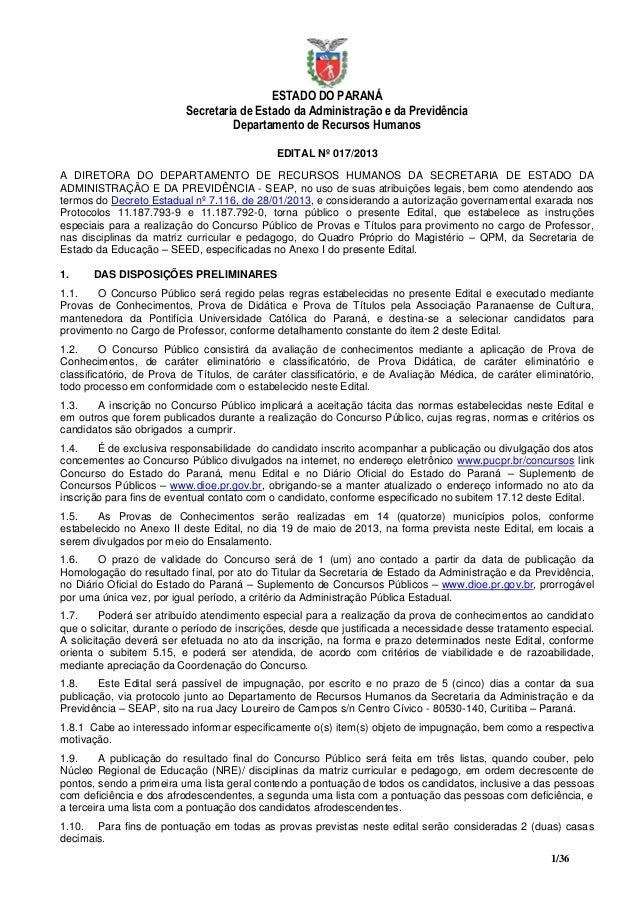 ESTADO DO PARANÁ                          Secretaria de Estado da Administração e da Previdência                          ...