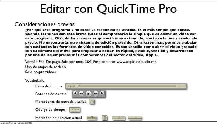 Editar con QTpro Slide 2