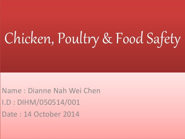 Chicken Poultry And Food Safety