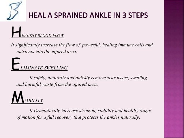how to support a sprained ankle