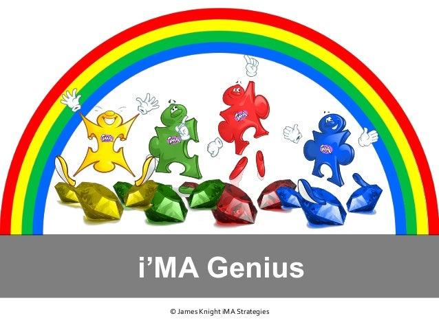 i'MA Genius © James Knight iMA Strategies