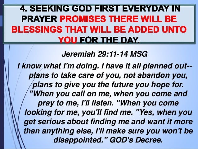 JUNE 5, 2016 - Sunday message - SEEKING GOD FIRST EVERYDAY in PRAYER (Matthew 6:33) ... by:Ptra.Je-anne Santos