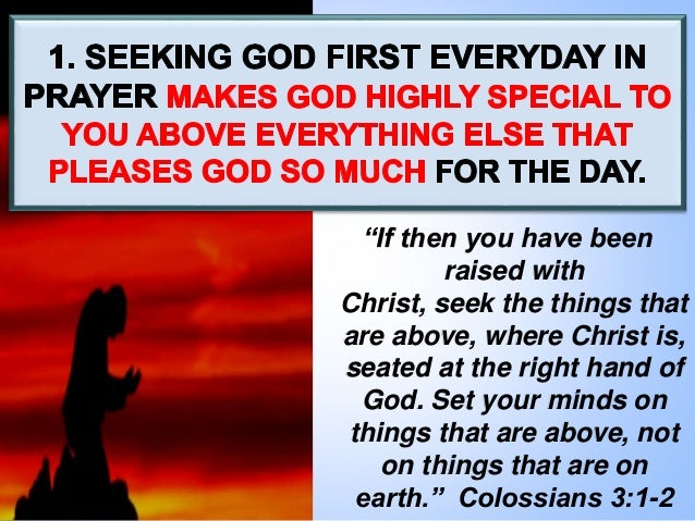"""""""If then you have been raised with Christ, seek the things that are above, where Christ is, seated at the right hand of Go..."""