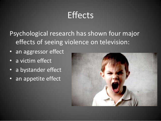the negative effects of television violence on children Children often see or hear the news many times a day through television  for children to experience negative effects  about violence and.