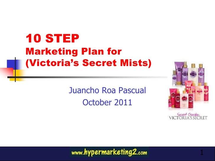 10 STEPMarketing Plan for(Victoria's Secret Mists)        Juancho Roa Pascual    Product                              Phot...