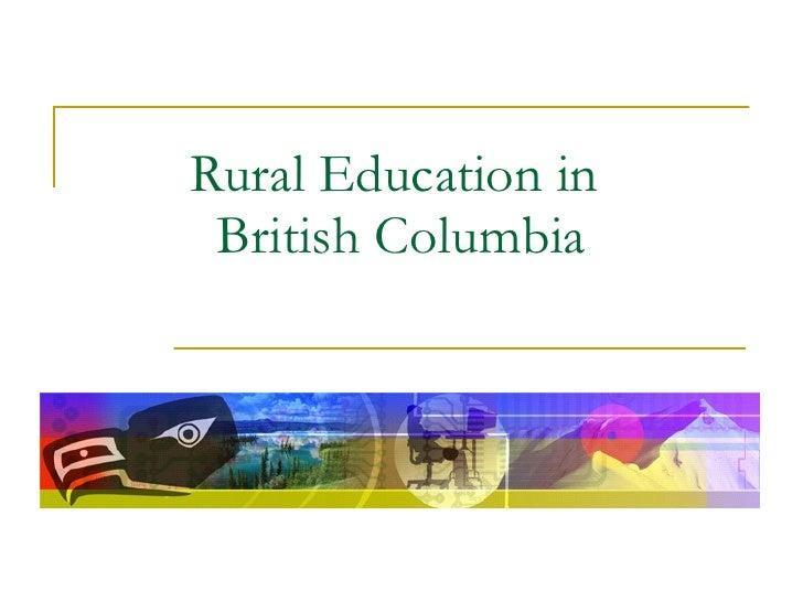 Rural Education in  British Columbia