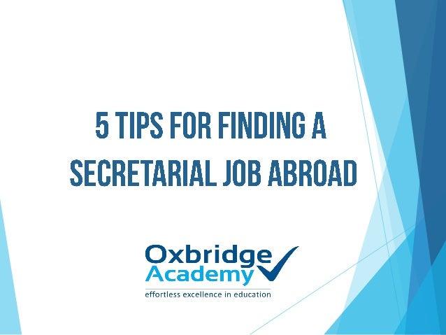5 Tips for finding a secretarial job abroad. Slide 2