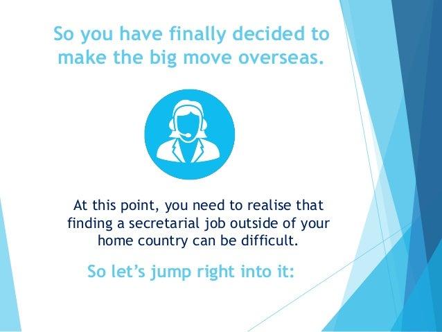 5 Tips for finding a secretarial job abroad. Slide 3