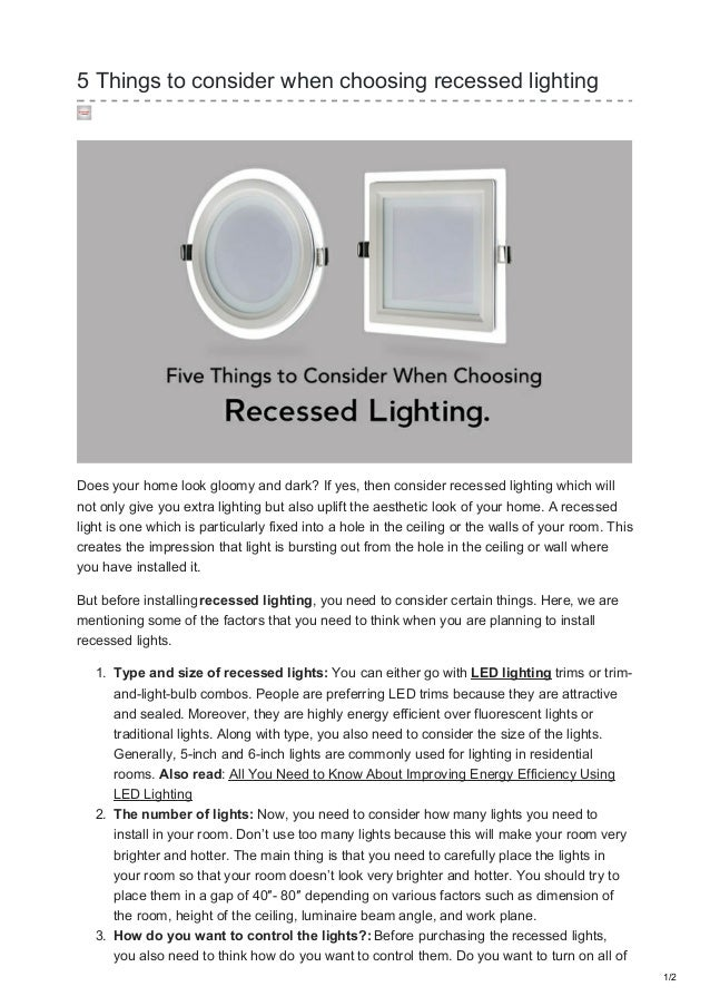 5 things to consider when choosing recessed lighting 5 things to consider when choosing recessed lighting does your home look gloomy and dark aloadofball Images
