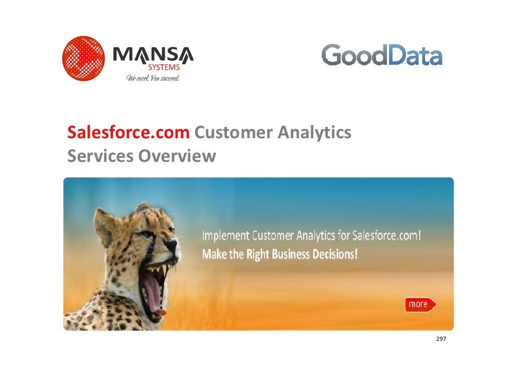 Salesforce.com Customer AnalyticsServices Overview                                    297