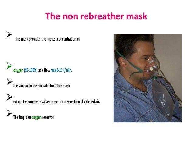 non rebreather mask use