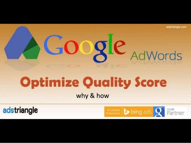 How to Improve Adwords Quality Score