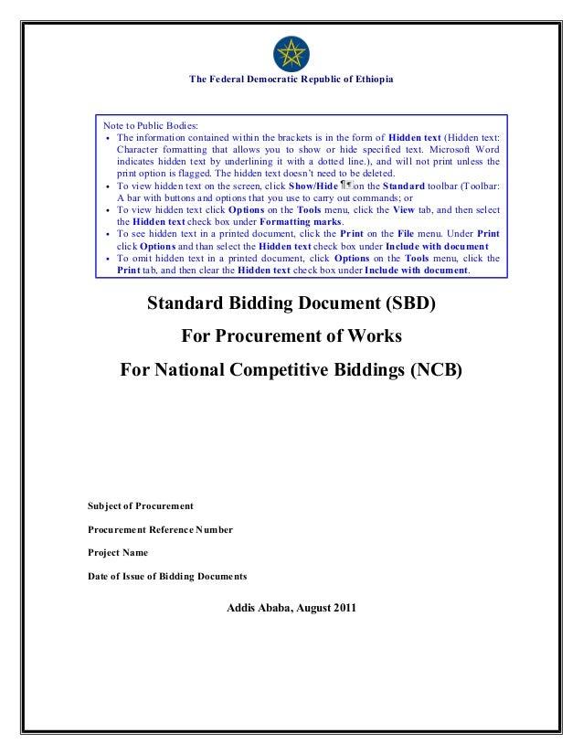 Edited sbd works (ncb)final november 2011 version