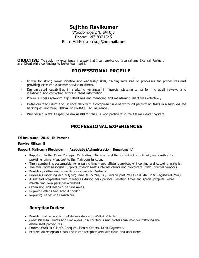 100 td resume sle resume for financial service
