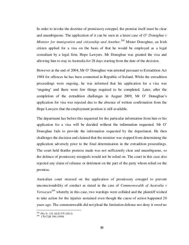 doctrine promissory estoppel essays