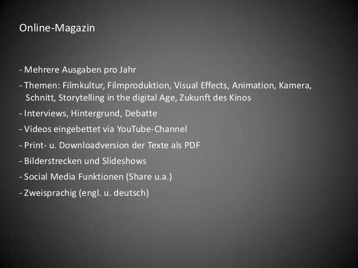 eDIT Filmmaker's Magazine Online-Magazin Slide 2