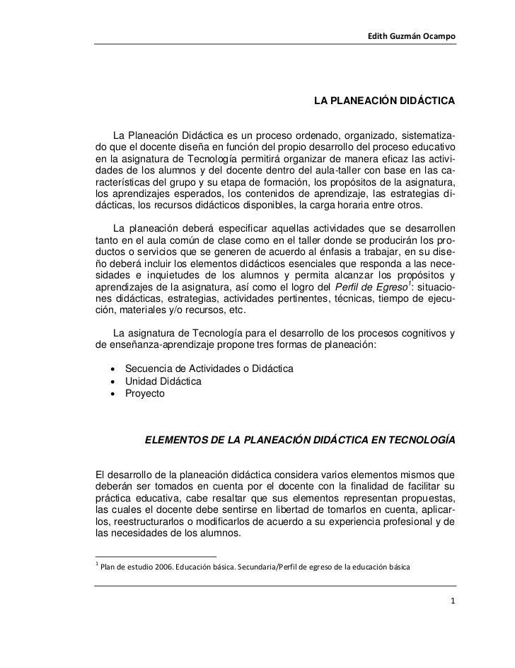 Edith Guzmán Ocampo - La planeación didáctica Slide 2