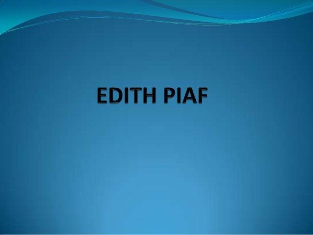 """ La vie d'Edith Piaf aura été brève et intense, le destin la  rattrapant toujours lors de brefs instants de bonheur. La """"..."""