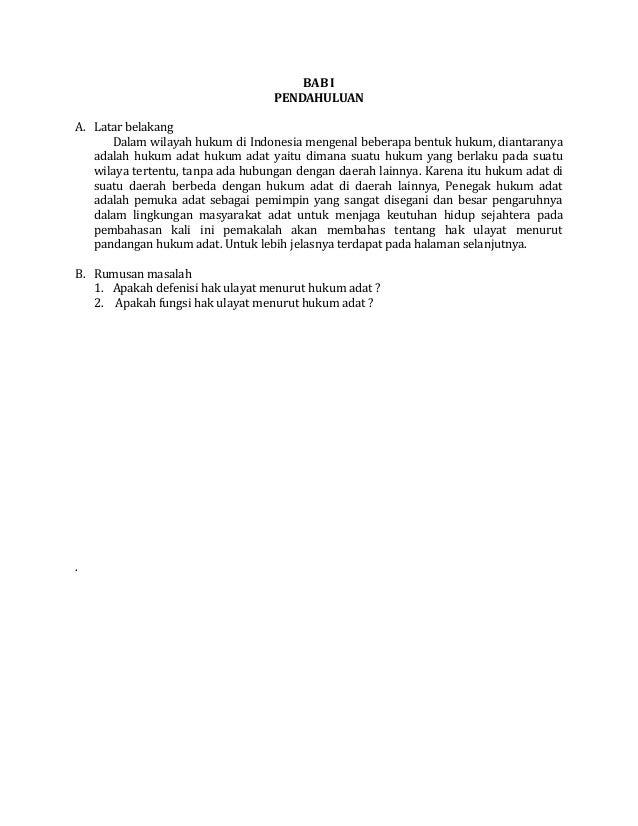 BAB I                                   PENDAHULUANA. Latar belakang      Dalam wilayah hukum di Indonesia mengenal bebera...